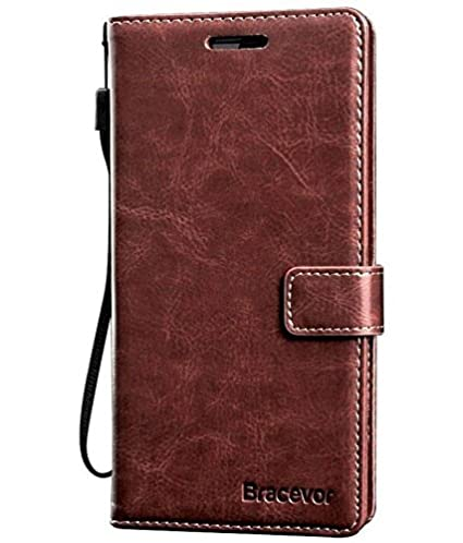 new concept e39cf fba75 Bracevor Leather Case *Inner TPU, Wallet Stand, Flip Cover for Lenovo Vibe  K4 Note - Executive Brown