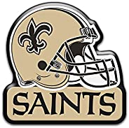 "aminco NFL New Orleans Saints 3"""" Heavy Duty Helmet Magnet, Gold, 4.5 (NFL-M"