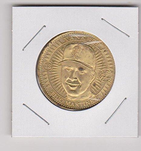 (1998 Pinnacle Tino Martinez Yankees Brass Coin)