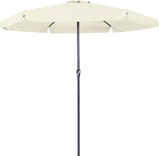 Kingsleeve sombrilla de Aluminio 330cm protección UV 40+ Repelente al Agua manivela Parasol jardín terraza Playa balcón: Amazon.es: Jardín