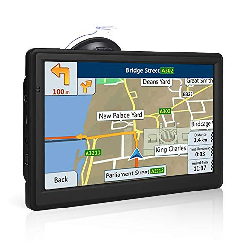 NETVIP GPS Navigation for car 7 Inch, 2019 Vehicle GPS Navigation with Bluetooth Hands Free Talking, 8GB+256MB Car GPS Navigation System Smooth Running, Lifetime Free Map Upgraded