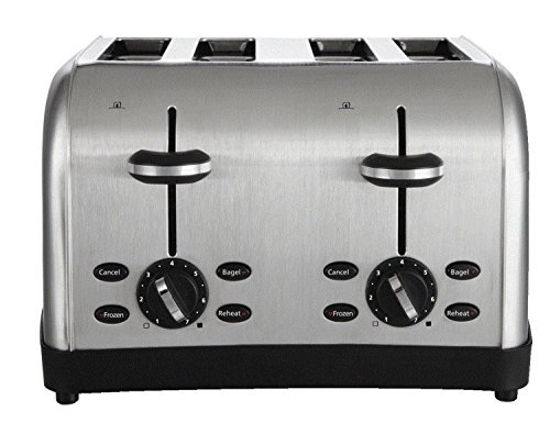 NEW 4-Slice Toaster stainless bagel kitchen slot commercial pop new by NB Shop