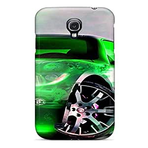 Durable Neon Car Back Case/cover For Galaxy S4