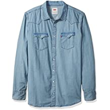 Levi's Men's Big and Tall Standard Denim Western Shirt