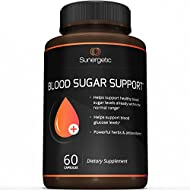 Premium Blood Sugar Support Supplement – Helps Support Healthy Blood Sugar & Glucose Levels – Includes Bitter Melon Extract, Vanadium, Chromium, Cinnamon, Alpha Lipoic Acid (60 Capsules)