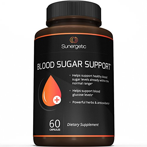 Premium Blood Sugar Support Supplement – Helps Support Healthy Blood Sugar & Glucose Levels – Includes Bitter Melon Extract, Vanadium, Chromium, Cinnamon, Alpha Lipoic Acid (60 Capsules) (Extract Leaf Banaba)