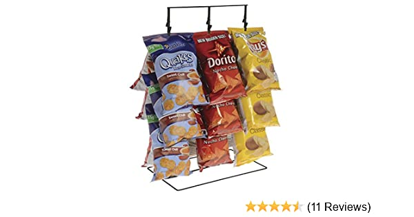 Amazon Com Potato Chip Rack 3 Rows 36 Clips Black 14 1 2 L X 9