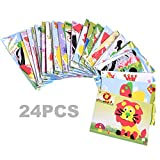 BCP 24 Set Educational Preschool DIY 3d Eva Foam Art Craft Painting Sticker Puzzle Kit