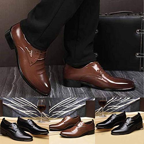 Amazon.com | Coco-Z 2019 New Summer Fashion Men Business Leather Shoes Casual Pointed Toe Lace Shoe Male Suit Shoes | Oxfords