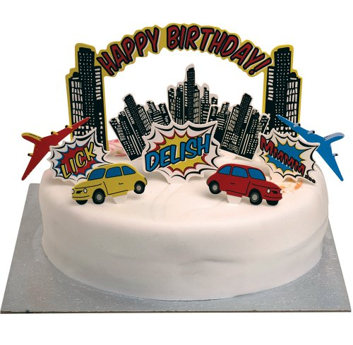 Superhero Party Birthday Cake Toppers