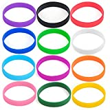 GOGO Wholesale Silicone Bracelets Bulk Rubber Band Bracelets Adult-Sized Rubber Wristbands for Party
