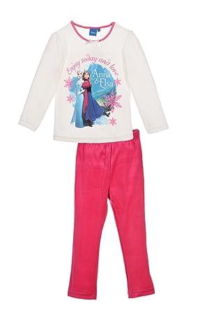 ff391326d1bb2 Pyjama velour Reine des Neiges ' Enjoy today and love - Blanc, 6 ans ...