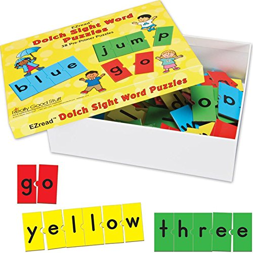 Really Good Stuff EZread Dolch Sight Word Puzzles: Pre-Primer