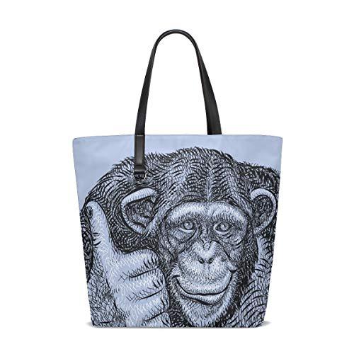 Talla Cheeky Tote Bennigiry Al Para Única Monkey Mujer Bolso Hombro 001 ngqw0xzfq