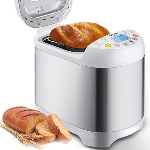 Bread Machine – Stainless Steel 2LB 550W Electric Programmable Breadmaker