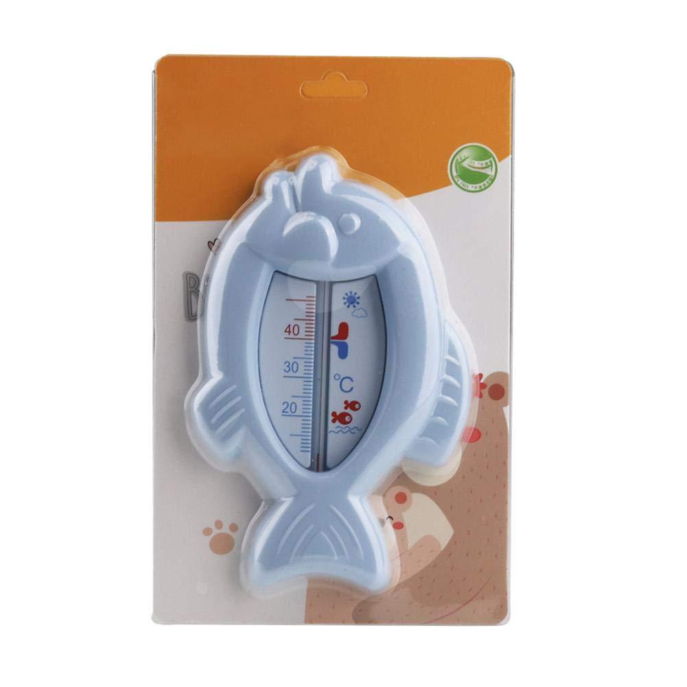 Baby-Badethermometer Nette Karikatur-Fisch-geformtes Wasser-Thermometer F/ür Das Baby Das Sicher Und Langlebig Badet