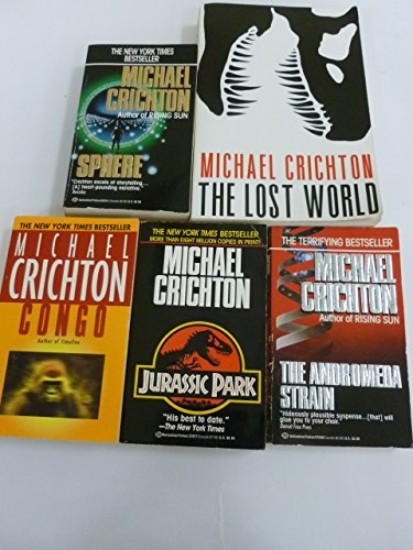 mini store gradesaver michael crichton set sphere congo the andromeda strain the lost world jurassic park