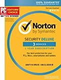 Symantec Norton Security Deluxe – 3 Devices – 1 Year Subscription – Product Key Card - 2019 Ready