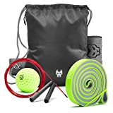 Workout Set – Includes Sackpack – Pull Up Band – Massage Ball – Sport Towel – Jump Rope For Sale