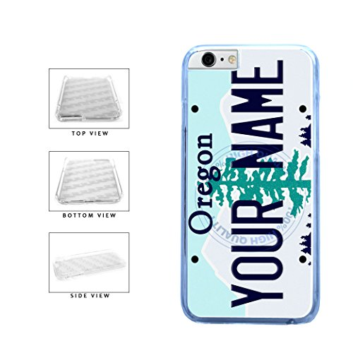 BleuReign(TM) Personalized Custom Name Oregon State License Plate Clear Sides Plastic Phone Case Back Cover For Apple iPhone 6 Plus and iPhone 6s Plus (5.5 Inches Screen) (Bleu Reign Inc Iphone 6)