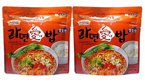Price comparison product image KOREA MRE Meals Ready to Eat Instant Noodle(Ramen) and Rice Jjampong (Spicy Korean Seafood Soup) Bowl 110g Instant Emergency Food (2 Pack)