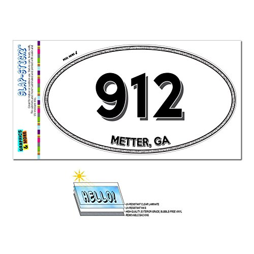 graphics-and-more-area-code-euro-oval-window-laminated-sticker-912-georgia-ga-ailey-nahunta-metter