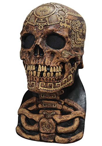 Aztec Skull Mask Long Neck Rib Cage Day Of The Dead Adult Halloween Accessory - Aztec Costumes For Halloween