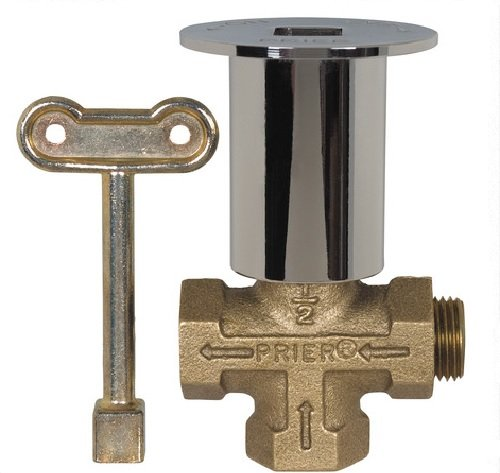 PRIER PRODUCTS C-64CP Prier 3-Way Gas Log Lighter Valve with Chrome Plated Escutcheon 3, 24 Piece