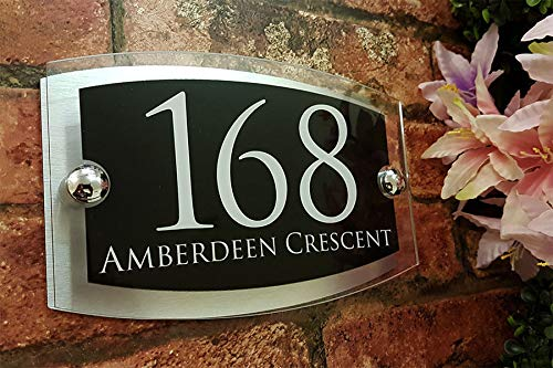 KaruSale Contemporary House Sign Plaque Door Number 1-999 Personalised Name Plate (Balck) by KaruSale (Image #9)