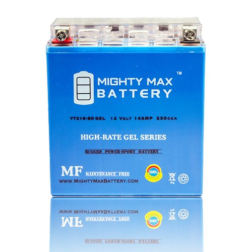 YTX16-BS 12V 14AH GEL Battery for SUZUKI LTA700X King Quad 700CC 05-07 - Mighty Max Battery brand product