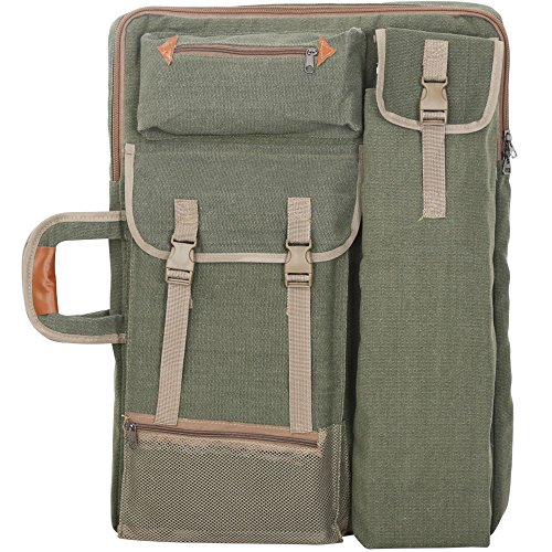 Tanchen 4K Canvas Artist Portfolio Carry Shoulder Bag Multifunctional Drawboard Bags for Drawing Sketching Painting (Army Green) by Tanchen