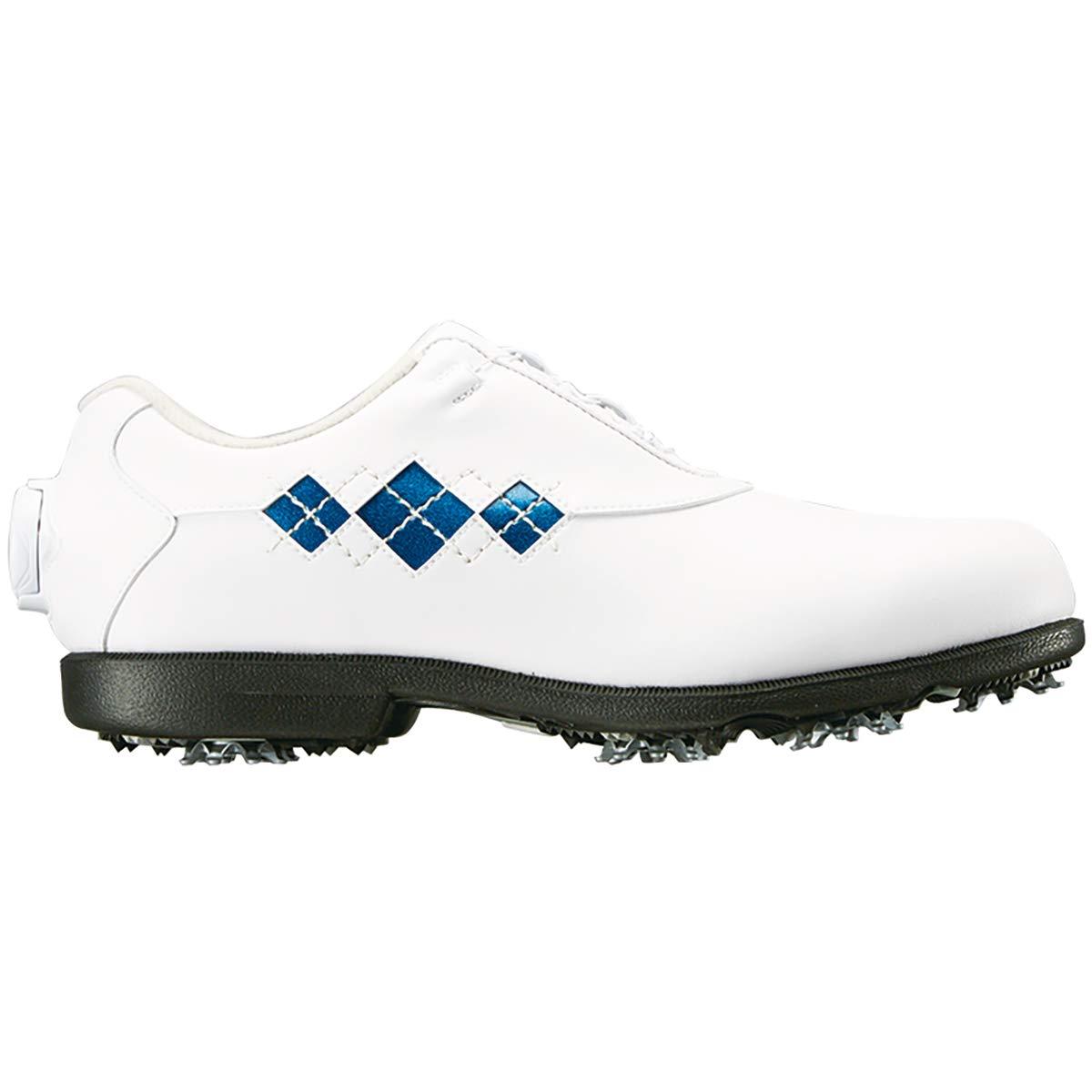 フットジョイ Foot Joy シューズ Eコンフォート Boa シューズ レディス B07JCR4T79 24.5 cm|ホワイト/ブルー ホワイト/ブルー 24.5 cm