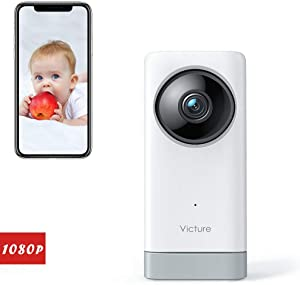 Victure 1080P Baby Monitor Pet Camera with Motion& Sound Detection, 2-Way Audio WiFi Camera