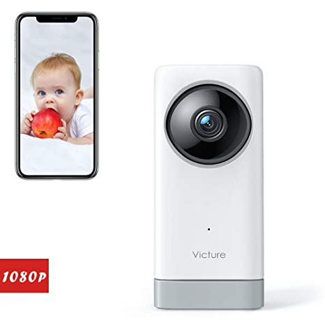 2-Way Audio WiFi Camera Victure 1080P Baby Monitor Pet Camera with Motion/& Sound Detection