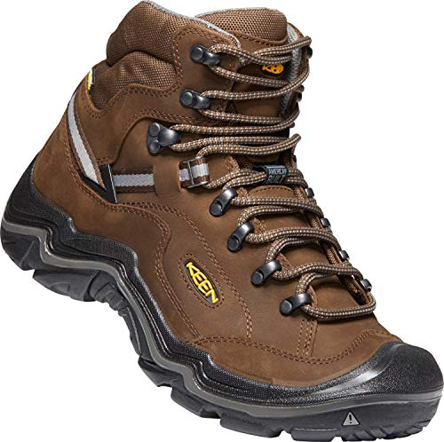 KEEN - Men's Durand II Mid WP Wide, Waterproof Hiking Boots, Cascade Brown/Gargoyle, 11 W US (Sneakers Keen Suede)
