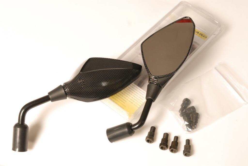 Soft-touch plastica Black Soft-carbon DUCATI HYPERMOTARD 1100 2007-2012 SPECCHIETTI A MANUBRIO Carbon-look
