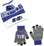 Star Wars Little Boys' R2D2 Cuffed Beanie and Glove Set, White, One Size
