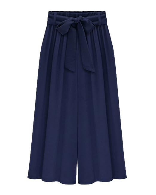 Anyua Tallas Grandes Pantalones Capri Pirata De Vestir Para Mujer Pantalones