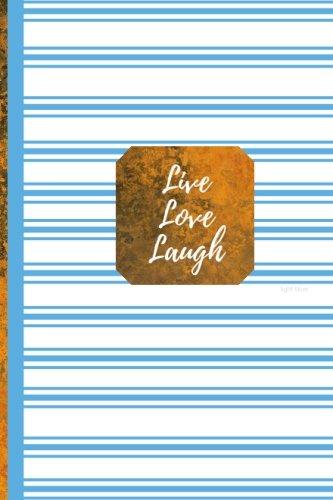 Download Live Love Laugh- Light Blue: Blank Journal/Folio Insert/Travelers Notebook Inserts/Diary/Unruled Journal (Mini Inserts and Journal Notebooks) ebook