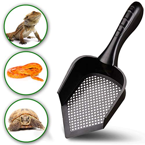 Reptile Litter Scoop –– Pointed Edge, Right-Angle Designed Shovel – Deep, Anti-scatter Sides – Prevents Infections from…
