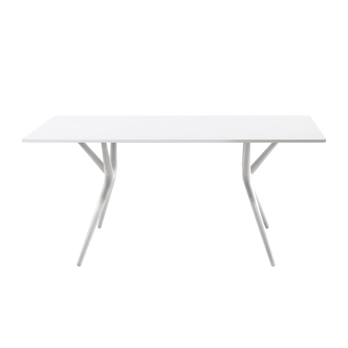 Kartell Spoon Tisch 160cm, weiß Tischgestell weiß 160x80cm