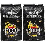 Fogo 17.6-Pound Premium Hardwood LUMP Charcoal Black Bag (Тwo Рack)
