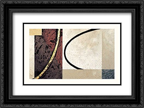 Line and Verse #II5 2X Matted 24x18 Black Ornate Framed Art Print by Holland, Cynthia