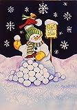 Toland Home Garden North Pole 12.5 x 18 Inch Decorative Winter Snowman Cardinal Garden Flag