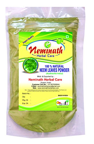100g New 100% Natural Neem Leaves (AZADIRACHTA INDICA) Powder for PIMPLE FREE CLEAR SKIN NATURALLY by Neminath Herbal Care (227 (Natural Clear Mixing Powder)