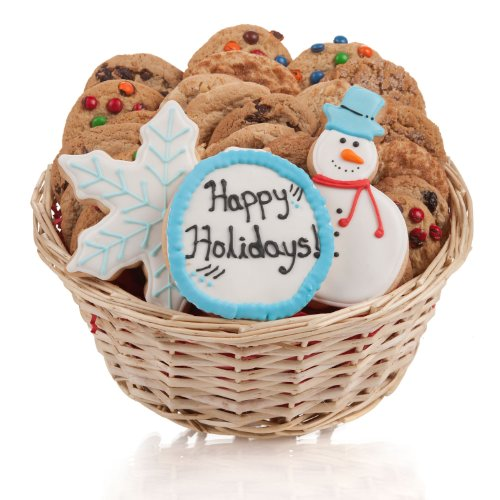Winter Holidays Cookie Gift Basket- 24 Pc.