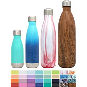 Simple Modern 25oz Wave Water Bottle - Vacuum Insulated Double Wall 18/8 Stainless Steel Hydro Swell Flask - Concept Collection - Primrose Marble