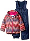 Kyпить Columbia Toddler Girls' Frosty Slope Set, Hot Coral Zig N Zag, 3T на Amazon.com