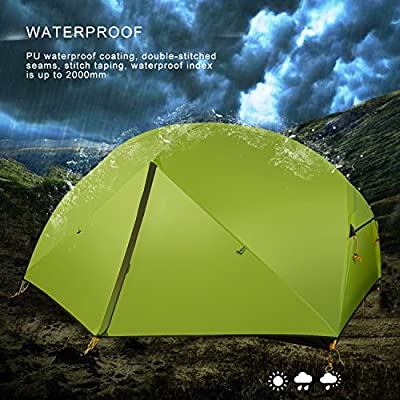 WolfWise 2 Person 3 Season Ultralight Backpacking Tent for Outdoor Camping Hiking Travel Hunting