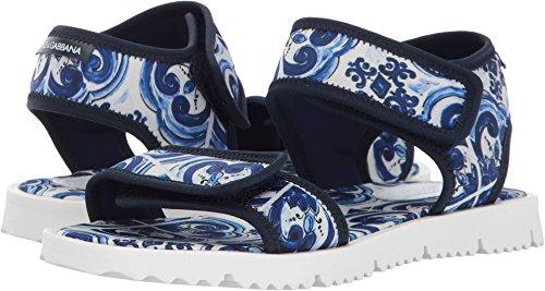 Dolce & Gabbana Kids Unisex Capri Flip-Flop (Little Kid/Big Kid) Blue Sandal by Dolce & Gabbana